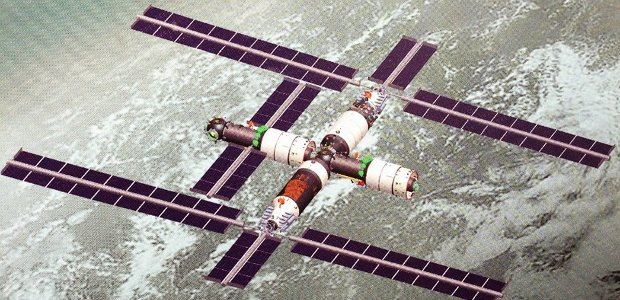 Artistic impressione of the possible look of the Chinese Space Station (Source chinanews.com. All rights reserved)