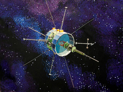 Artistic concept of the ISEE-3 / ICE space probe (Image NASA)