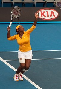 Serena Williams at the Australian Open 2010