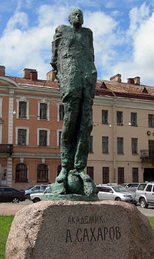 Statue of Andrei Sakharov at the Univirsity of St. Petersburg