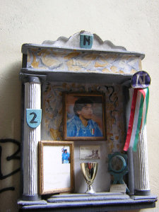 Altar to Maradona in Naples