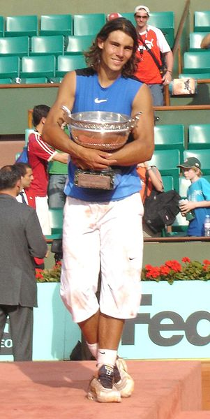Rafael Nadal champion at the French Open 2006