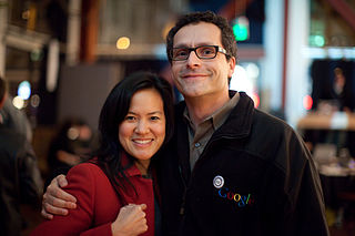 Bradley Horowitz with his wife Irene Au