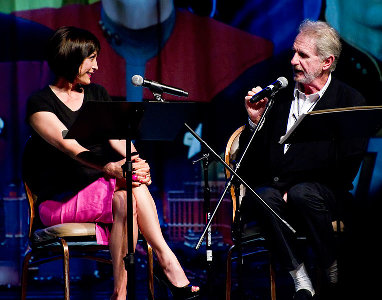 Nana Visitor and René Auberjonois at the 2011 Star Trek convention in Las Vegas