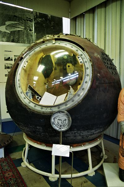 The ostok 1 capsule at the RKK Energiya museum in Korolev