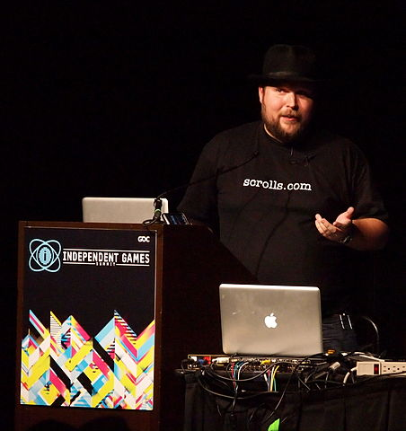 "Markus ""Notch"" Persson at GDC 2011"