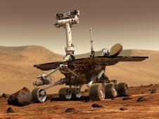 Artist's Concept of Mars Rover Spirit (image NASA/JPL/Cornell University)