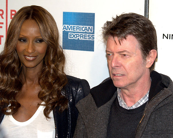 David Bowie with his wife Iman in 2009