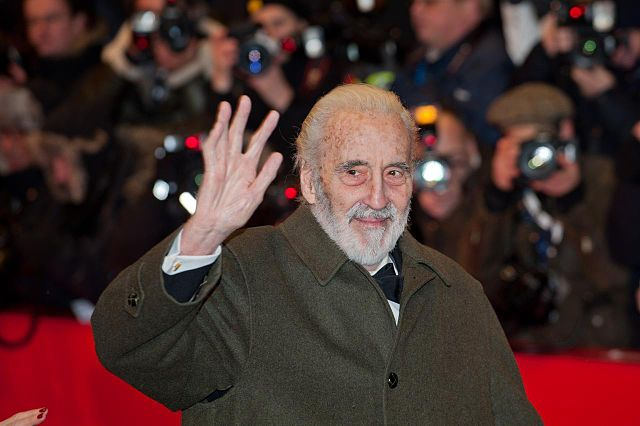 Christopher Lee at the 62nd Berlin International Film Festival on February 9, 2012
