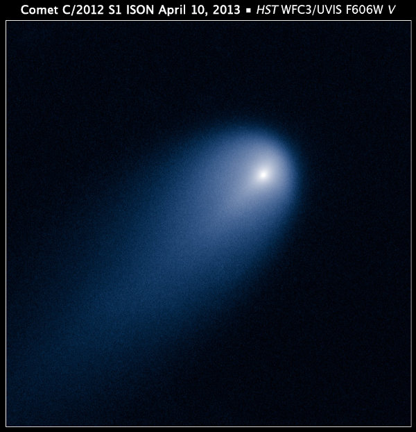 Photo of Comet ISON taken by the Hubble Space Telescope (Photo NASA, ESA, J.-Y. Li (Planetary Science Institute), and the Hubble Comet ISON Imaging Science Team)
