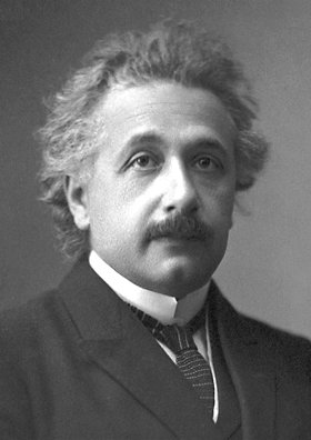 Official portrait of Albert Einstein after receiving the Nobel Prize for Physics in 1921