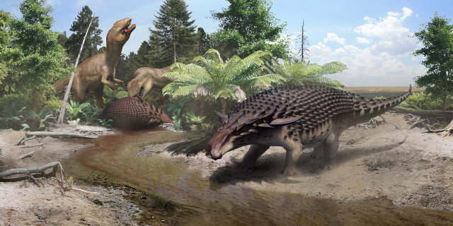 Borealopelta markmitchelli reconstruction (Image courtesy Robert Nicholls)