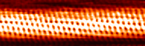Carbon nanotube seen with a scanning tunneling microscope (Photo by Taner Yildirim at the National Institute of Standards and Technology - NIST)