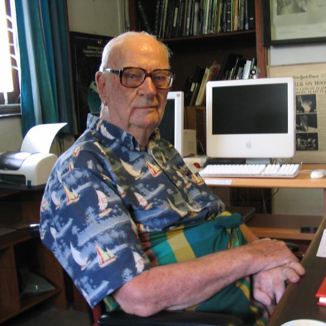 Arthur C. Clarke in 2005 (Photo Amy Marash)