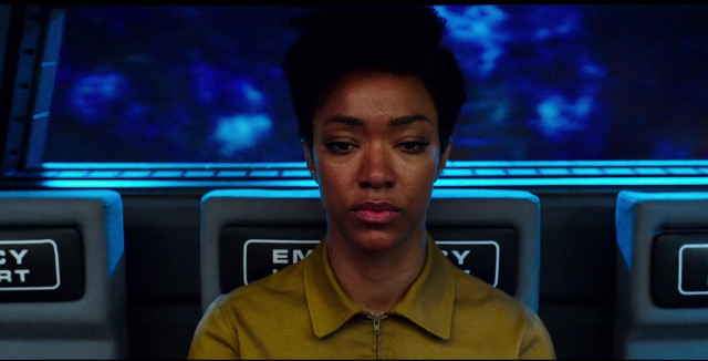 Michael Burnham (Sonequa Martin-Green) in Context Is for Kings (Image courtesy CBS / Netflix)