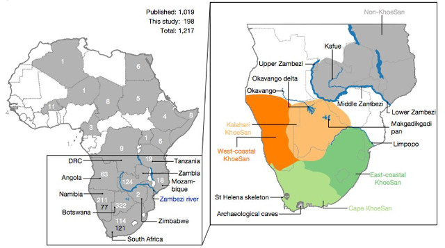According to a genetic research, humanity's birthplace is in today's Botswana