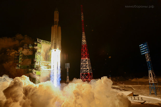 The Angara A5 rocket lifting off (Photo courtesy Russian Ministry of Defence. All rights reserved)