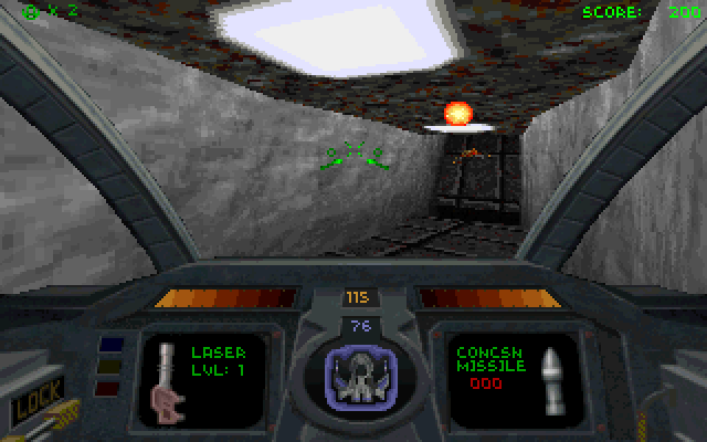 Screenshot from the original video game Descent