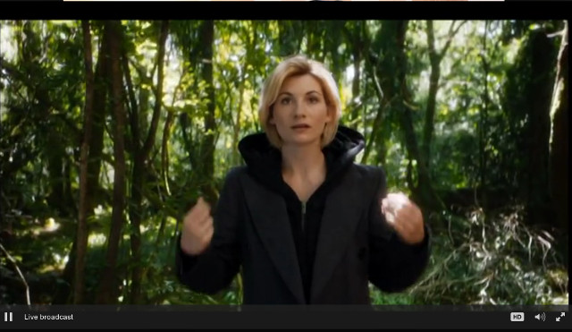 Jodie Whittaker as the 13th Doctor (Image courtesy BBC)
