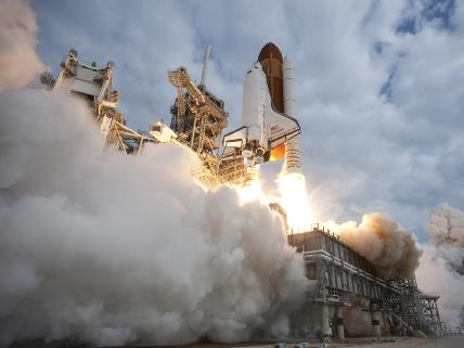 The Space Shuttle Endeavour taking off for its last mission (photo NASA)