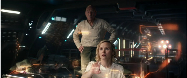 Jean-Luc Picard (Patrick Stewart) and Dr. Agnes Jurati (Alison Pill) in Et in Arcadia Ego, Part 2