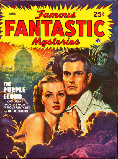 The Purple Cloud by M.P. Shiel (Famous Fantastic Mysteries. All-Fiction Field, Inc. / Lawrence Sterne Stevens)