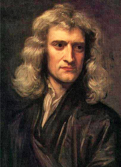 Portrait of Isaac Newton in 1689