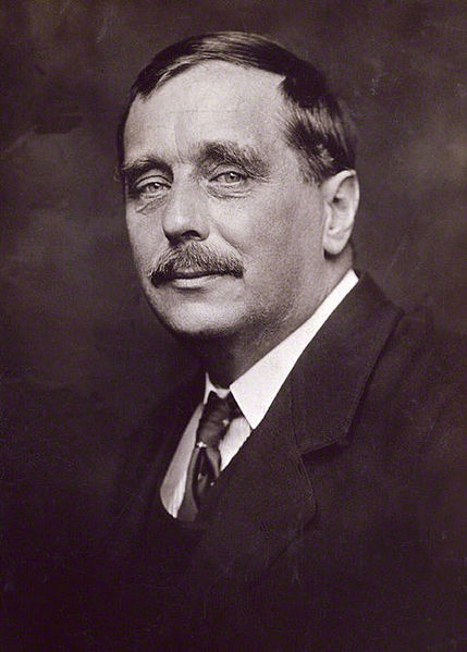H.G. Wells photographed by George Charles Beresford in 1920