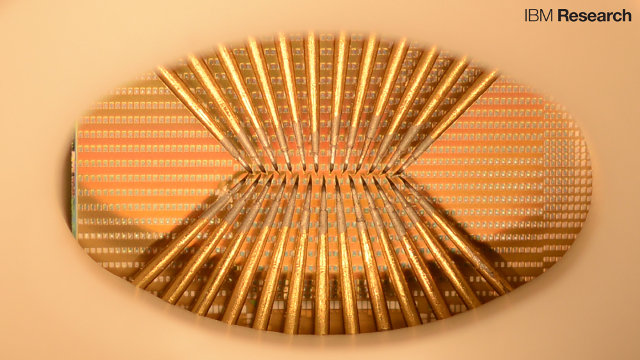 IBM chip with artificial neurons (Image courtesy IBM Research. All rights reserved)