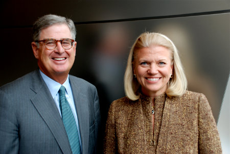 Samuel J. Palmisano and Virginia M. Ginni Rometty
