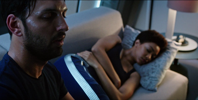 Ash Tyler (Shazad Latif) and Michael Burnham (Sonequa Martin-Green) in Into the Forest I Go (Image courtesy CBS / Netflix)