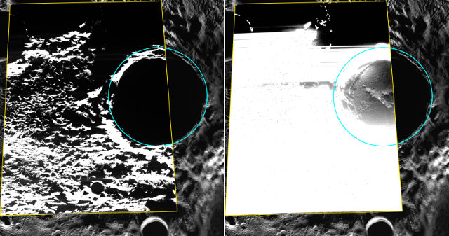 The Kandinsky crater on Mercury photographed by the Messenger space probe (Image ASA/Johns Hopkins University Applied Physics Laboratory/Carnegie Institution of Washington)