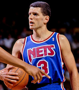 Drazen Petrovic with the New Jersey Nets