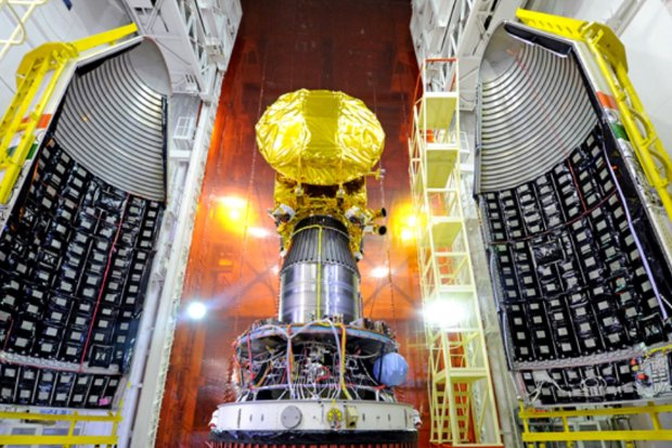 The Mars Orbiter Mission prepared for the launch (Photo courtesy ISRO. All rights reserved)