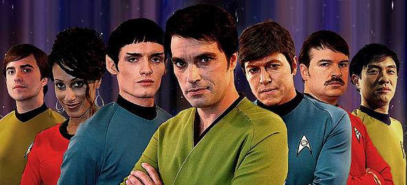 The original Star Trek: New Voyages cast (Photo courtesy Star Trek: New Voyages/Phase II. All rights reserved)