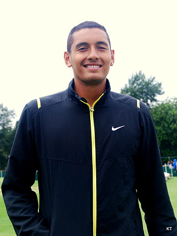 Nick Kyrgios in Wimbledon in 2014