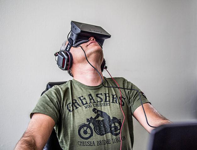 Sergey Orlovskiy testing Oculus Rift