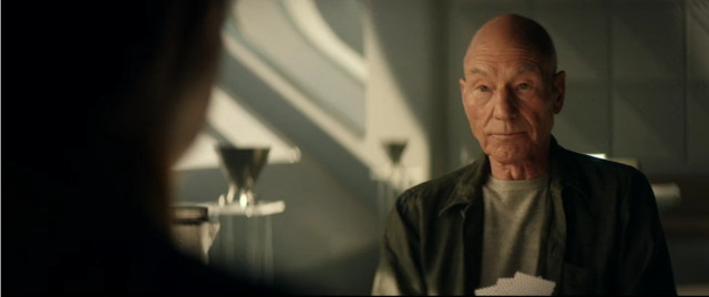Jean-Luc Picard (Patrick Stewart) in Remembrance (Image courtesy CBS All Access / Amazon Prime Video)