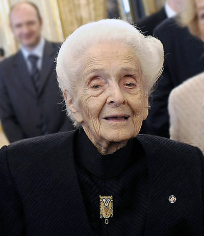 Rita Levi Montalcini in 2009 (Photo Presidency of Italian Republic)
