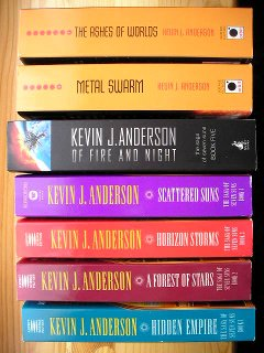 The Saga of Seven Suns by Kevin J. Anderson (various USA and UK editions)