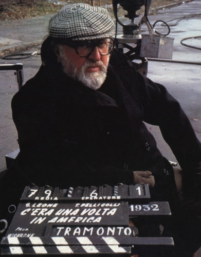 Sergio Leone on the set of Once Upon a Time in America