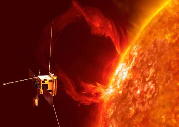 Artistic concept of the Solar Orbiter space probe during its mission (Image ESA/AOES)