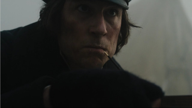 Commander James Fitzjames (Tobias Menzies) in Terror Camp Clear (Image courtesy AMC Studios / Amazon. All rights reserved)