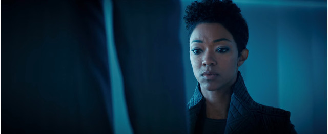 Michael Burnham (Sonequa Martin-Green) in That Hope Is You, Part 1 (Image courtesy CBS / Netflix. All rights reserved)