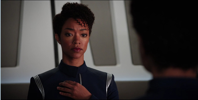 Michael Burnham (Sonequa Martin-Green) in The Butcher's Knife Cares Not for the Lamb's Cry (Image courtesy CBS / Netflix)