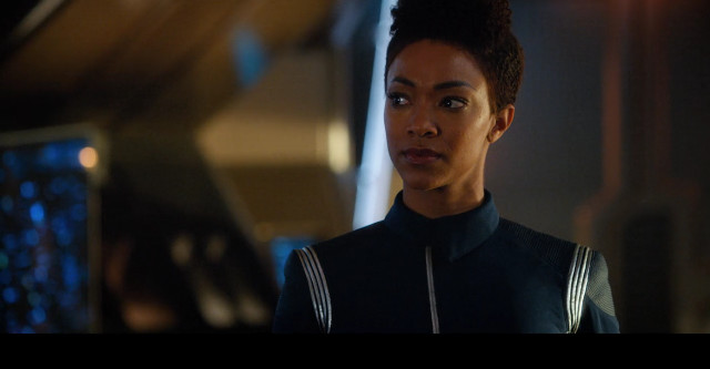 Michael Burnham (Sonequa Martin-Green) in The War Without, The War Within (Image courtesy CBS / Netflix)