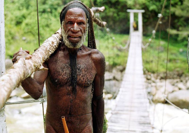 Dani tribesman from Papua New Guinea