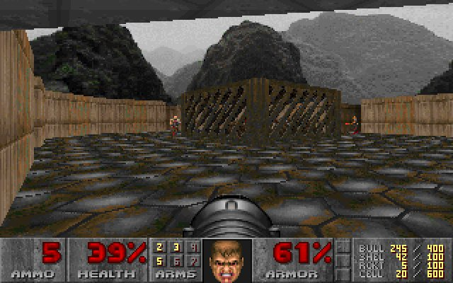 Screenshot from Doom secret level