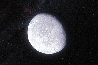 Artist's concept of the dwarf planet Eris (Image ESO/L. Calçada)