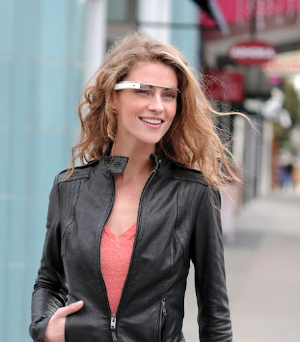 Google's Project Glass augmented reality glasses (photo courtesy of Google. Unauthorized use is not permitted)